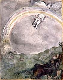'Rainbow in the Sky; A Sign of the Covenant Between God and Earth - Marc Chagall - (1931)