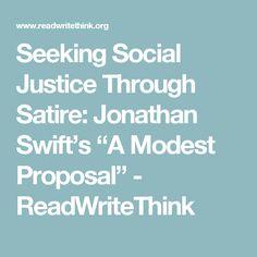 jonathan swift a modest proposal thesis statement