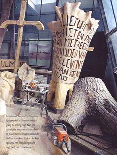 houten kunstwerk