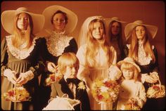 Terry Hasse and her bridal party, Oct. 26, 1974, St. Mary's Catholic Church, New Ulm, Minnesota