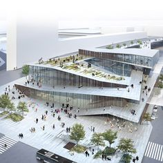 Kengo Kuma & Associates has won a competition to design Gare Saint-Denis Pleyel, one of 72 stations that will be built along a new stretch of Paris' Metro.