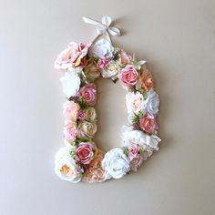 Floral Letter with succulents