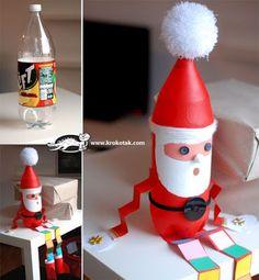 más y más manualidades: Recicla botellas de plástico y crea bellos adornos navideños.