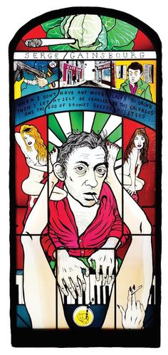 Stained glass windows of Aleister Crowley, Serge Gainsbourg, Johnny Cash, JG Ballard & many more | Dangerous Minds