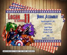 DIY Marvel Avengers Birthday Party by NovelConceptDesigns on Etsy, $9.95