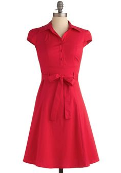 1940's Plus Size Soda Fountain Dress in Cherry  $44.99  Store: ModCloth.com