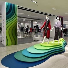 """HUDSON'S BAY COMPANY, Yonge Street, Toronto, Ontario, Canada, """"Be Yourself - On All Levels"""", post by VMSD magazine, photo by James Doiron, pinned by Ton van der Veer Jewellery Showroom, Paint Color Schemes, Artwork Display, Pop Up Shops, Booth Design, Retail Design, Visual Merchandising, Store Design, Branding Design"""