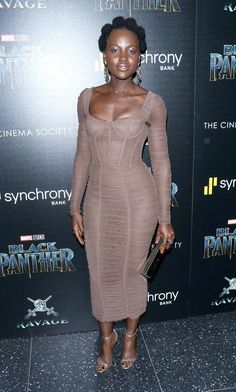 Lupita Nyongo wore Dolce&Gabbana at the Black Panther Screening in New York on February Black Girls Rock, Black Girl Magic, African Beauty, African Fashion, My Black Is Beautiful, Beautiful People, Black Love, Cabello Afro Natural, Dolce & Gabbana
