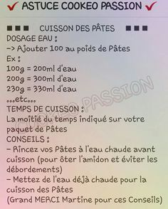 Cuisson pâtes cookeo Easy Cooking, Cooking Tips, Work On Yourself, Improve Yourself, Bon App, Instant Pot, Food And Drink, Menu, Favorite Recipes