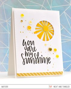©Candles in the Garden | you are my sunshine | Neat and Tangled May 2016 Release. Stitched Starburst