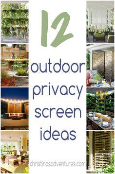 Outdoor Privacy Screen Ideas - Christinas Adventures