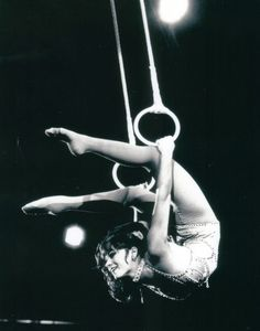 """Lovely DOLLY JACOBS, winner of two special awards at the International Circus Festival of Monte Carlo, performs on the Roman rings in the 109th Edition of Ringling Bros. and Barnum & Bailey Circus."""