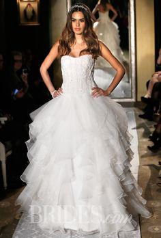 Brides: Oleg Cassini Wedding Dresses   Spring 2015   Bridal Runway Shows   Brides.com | Wedding Dresses Style