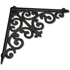 Large Black Cast Iron Bracket with Scrolls | Shop Hobby Lobby---shelving above toliet