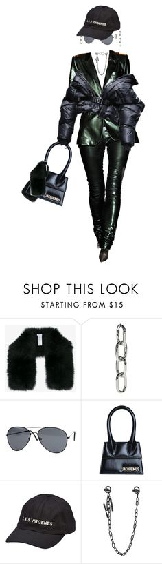 """""""I was so close."""" by thaijohnson ❤ liked on Polyvore featuring Inverni, Alexander Wang, Jacquemus, Barbara Bui, Yeezy by Kanye West and Dsquared2"""