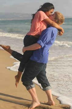 One year anniversary pictures on the beach!