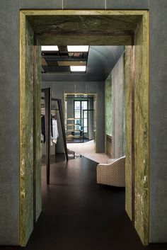 Luxury Boutique in Turin by Dimore Studio Architecture Details, Interior Architecture, Upholstered Wall Panels, Architrave, Villa, Shops, Retail Interior, Retail Space, Classic Furniture