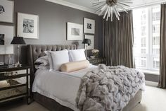 picture organization over the bed Decorating Chicago: the art of modern glamour — The Decorista