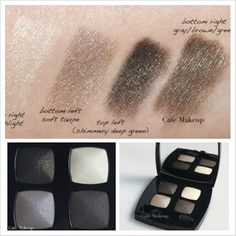 Chanel Eyeshadow Quad in Mystere (images by Café makeup blog )