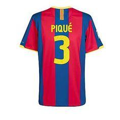Tienda de 10-11 Barcelona  3 Pique Camiseta De Fútbol Local awa-Personalizar fa71b28656e