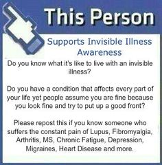 I Support Invisible Illness Awareness
