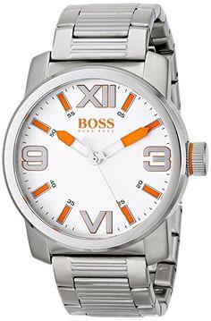 BOSS Orange Men's 1512984 Dubai Analog Display Quartz Silver Watch Boss Orange, Hugo Boss Man, Stainless Steel Bracelet, Casio Watch, Silver Bracelets, Omega Watch, Dubai, Watches For Men, Quartz