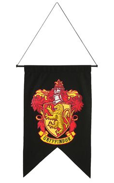 Courage, bravery and chivalry are the values of this house. The lion mascot dominates in scarlet and gold. Show your allegiance with the Harry Potter Gryffindor House Banner Wall Decor. Officially lic More