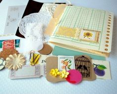 Saturday Morning Muse a petite Art Journal Kit by citronfaire