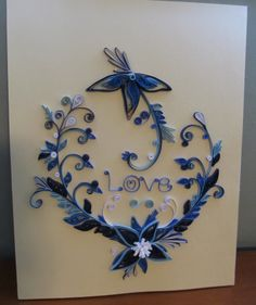 Blue flower design - by: Creative Quilled Creations