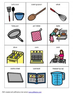 Living Well With Autism - Cooking Visual Helpers. Lots of great visuals for various topics Autism Activities, Autism Resources, Self Help Skills, Community Helpers Preschool, Adhd And Autism, Social Stories, Special Needs Kids, Picture Cards, Speech And Language