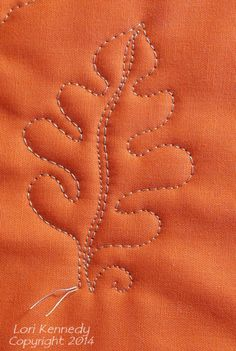 The Oak Leaf and Acorn-Free Motion Quilt Tutorial - Lori Kennedy Quilts - Oak Leaf and Acorn Free Motion Quilt Pattern - Quilting Stitch Patterns, Machine Quilting Patterns, Quilt Stitching, Quilt Patterns, Leaf Patterns, Quilting Stencils, Quilting Templates, Quilting Tutorials, Quilting Projects