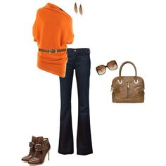 Orange & Brown Fall colors, created by julesgirl84 on Polyvore