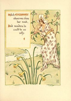 Walter Crane   A floral fantasy in an old English garden