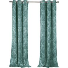 This classical damask pattern brings elegance in and keeps the elements out. Sold as a set of 2, and made of soft woven fabric for a complete look.
