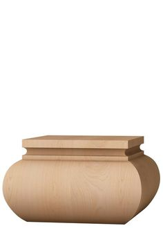 Wide and versatile. Wider than it is tall, this foot features simple lines and a low profile. The extra width make this foot a best seller for larger projects. Compare with the smaller Lincoln cabinet foot.