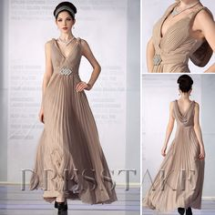 Latest Sexy New V-neck Elegant Chiffon Evening Dress / Prom / Homecoming / Sweet 16 / Wedding Party Dress Online 2011, US$72.99