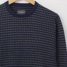 Peter Werth Leopold Crew Knit (Charcoal/Navy) – New-Entry Clothing #peterwerth #knitwear #newentrystore #menswear