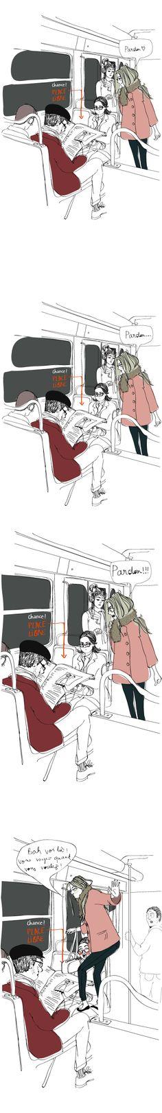 Si seulement... dans le metro, les gens etaient courtois... ou pas ;) (C) Sophie DLR