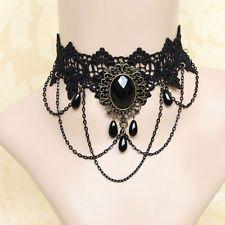 Collier Victorien Dentelle Tour de Cou Chaîne Gothique Mariage Mode Necklace Bib