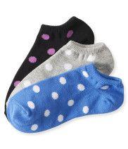 3-Pack Polka Dot Ped Socks - Aéropostale®