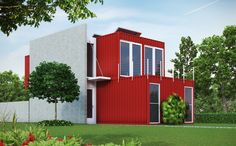 Shipping container homes | ... Visualization User Community | Exterior - Shipping Container Home