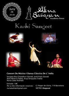 Concierto de Música y Danza clásica de la India en Acadèmia Dansa Alina Babayan, Barcelona