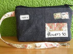 """In Germany a """"Brieftasche"""" is a wallet! But here it is a letter as a bag!  You can use this small bag as a hip pouch, as a wristlet, as a organizer bag in a big bag, or, or,......  blogged: monaw.blogspot.com/"""