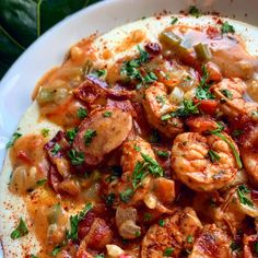 Southern Shrimp And Grits, Shrimp Grits, Louisiana Shrimp And Grits Recipe, Shrimp And Grits Sauce Recipe, Southern Dishes, Southern Recipes, Southern Food, Mexican Side Dishes, Main Dishes