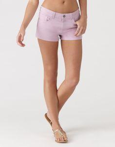 Plain Washed Denim Shorts