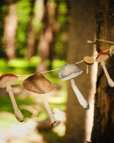DIY Mushroom Garland