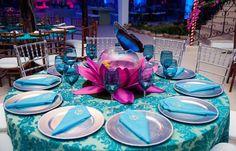 Festa tema Tomorrowland Larissa: mesas convidados detalhes - Fotos: Vips Fotos / João Henrique e Paula Nunes