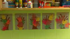 """""""Family Tree"""" Materials:fall colored construction paper;glue,marker  Directions:trace and cut out children's handprints onto fall colored construction paper;cut out a tree trunk with branches. Have enough branches and handprints cut out according to the number of people in each child's family. glue or paste the trunk down onto another piece of construction paper and have the children to place the (handprints) onto their tree branches or onto their tree."""