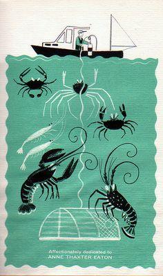 dahlov ipcar images | Dahlov Ipcar, 1961- Crabs, Shrimp & Lobster | Flickr - Photo Sharing!