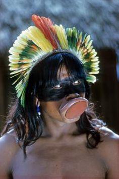 Kaiapo indian, Xingu Park, Brazil